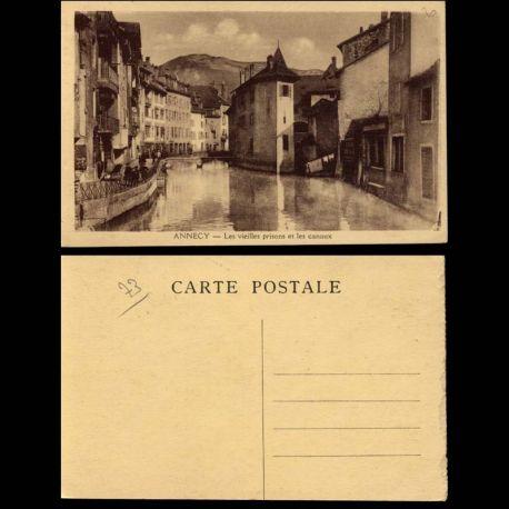 Carte postale 73 - Annecy - Vieilles prisons et les canaux
