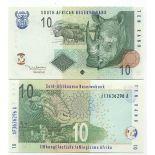 Schone Banknote Südafrika Pick Nummer 128 - 10 Rand 2005