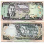 Banconote Giamaica Pick numero 84 - 100 Dollar