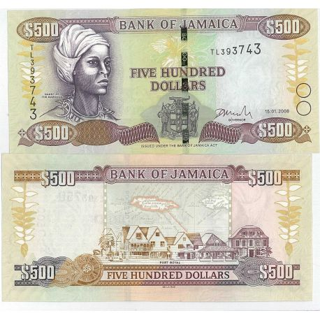 Billets de collection Billets collection Jamaique Pk N° 85 - 500 Dollars Billets de Jamaique 18,00 €