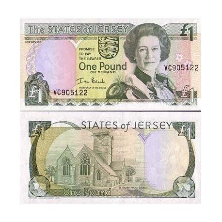 Billet de collection Jersey Pk N° 26 - 1 Pound
