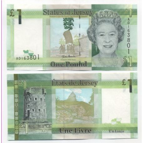 Billets de collection Billets de banque Jersey Pk N° 32 - 1 Pound Billets de Jersey 6,00 €