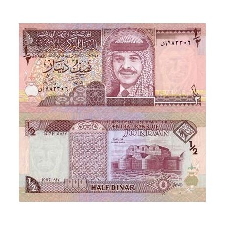 Billet de collection Jordanie Pk N° 28 - 0.5 Dinara