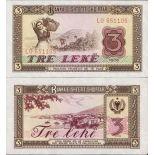 Collezione di banconote Albania Pick numero 41 - 3 Lei 1976