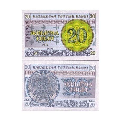 Billets de banque Kazakhstan Pk N° 5 - 20 Tyin