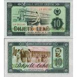 Banknoten Sammlung Albanien Pick Nummer 43 - 10 Lei 1976