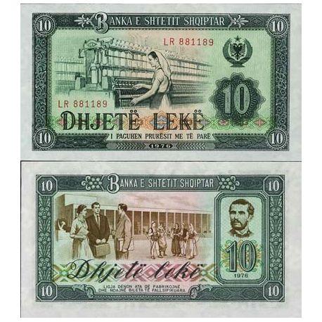 Billets banque Albanie Pk N° 43 - 10 Leke
