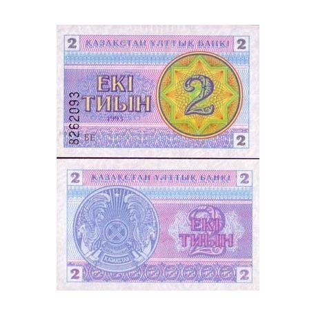 Billet de banque Kazakhstan Pk N° 2 - 2 Tyin