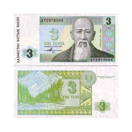 Billet de collection Kazakhstan Pk N° 8 - 3 Tenge