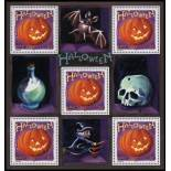 Francobollo Halloween blocco N° 40 nove senza cerniera