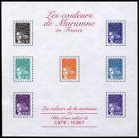Stempel Frankreich Block Nr. 41 neun ohne Scharnier