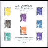 Stempel Frankreich Block Nr. 44 neun ohne Scharnier