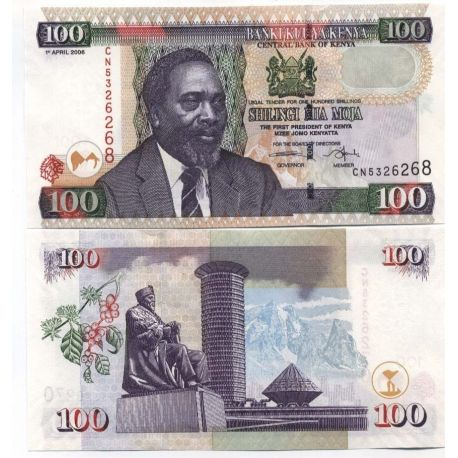 Billets de collection Billet de banque Kenya Pk N° 42 - 100 Shilling Billets du Kenya 6,00 €