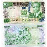 Banknote collection Kenya Pick number 20 - 10 Shilling