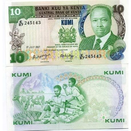 Billets banque Kenya Pk N° 20 - 10 Shilling