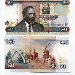 Bello banconote Kenya Pick numero 41 - 50 Shilling