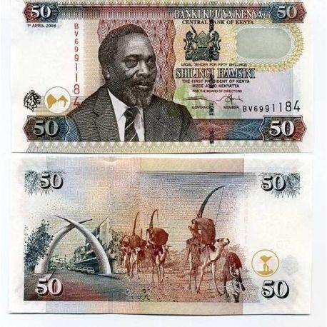 Billets de banque Kenya Pk N° 41 - 50 Shilling