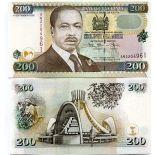 Banknote Kenya Pick number 38 - 200 Shilling