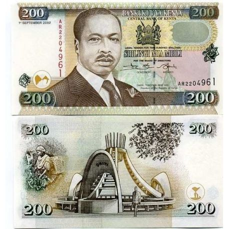 Billets de collection Billets collection Kenya Pk N° 38 - 200 Shilling Billets du Kenya 13,00 €