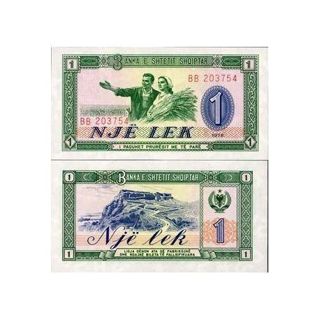 Albanie - Pk N° 40 - Billet de 1 Leke