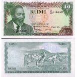 Billet de collection Kenya Pk N° 16 - 10 Shilling