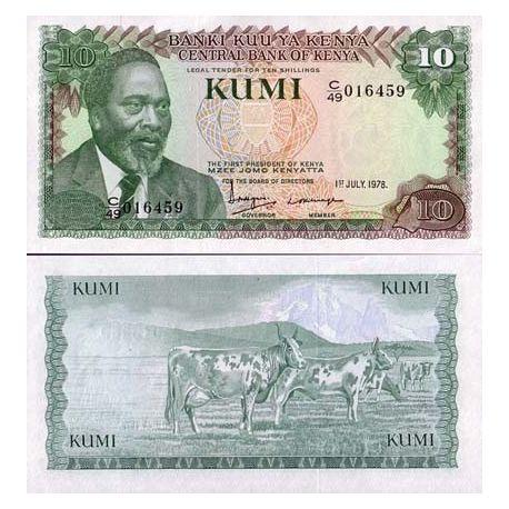 Kenya - Pk N° 16 - Billet de 10 Shilling