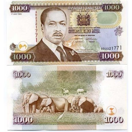 Billets de collection Billet de collection Kenya Pk N° 34 - 1000 Shilling Billets du Kenya 50,00 €
