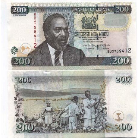 Billets de banque Kenya Pk N° 43 - 200 Shilling