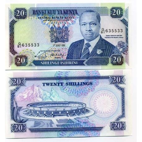 Billets de collection Billets collection Kenya Pk N° 25 - 20 Shilling Billets du Kenya 6,00 €