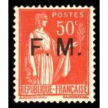 Timbre France FM N° 7 neuf sans charnière