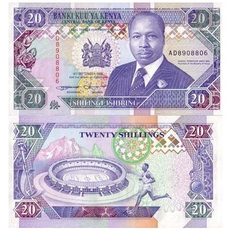 Billets de collection Billet de banque KENYA Pk N° 31 - 20 Shilling Billets du Kenya 11,00 €