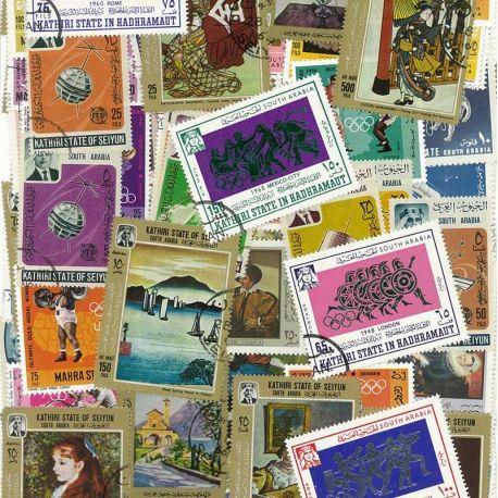 Aden und Staaten - 100 verschiedene Briefmarken