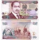 Billet de collection Kenya Pk N° 36 - 50 Shilling