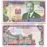 Billets de banque Kenya Pk N° 24 - 10 Shillings