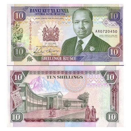 Kenya - Pk N° 24 - Billet de 10 Shillings