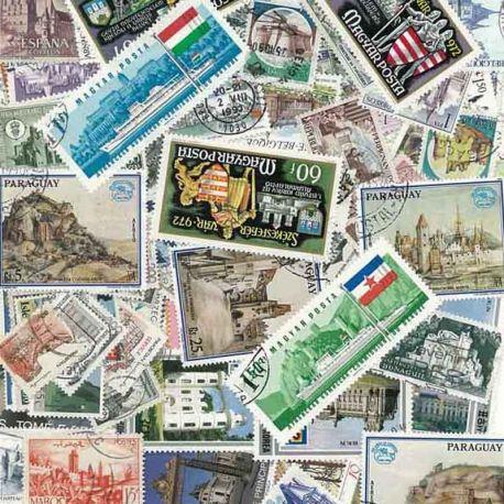 Schlösser: 100 verschiedene Briefmarken