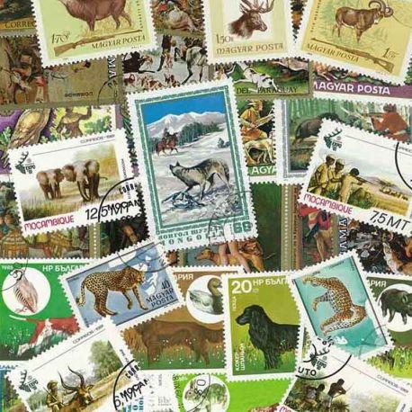 Jagd: 25 verschiedene Briefmarken