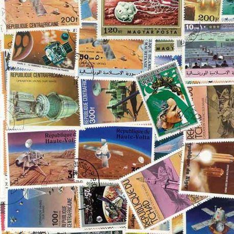 Collection de timbres Mars oblitérés