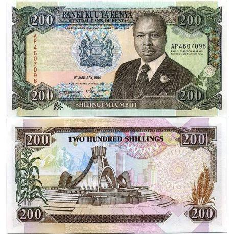 Billets banque Kenya Pk N° 29 - 200 Shilling