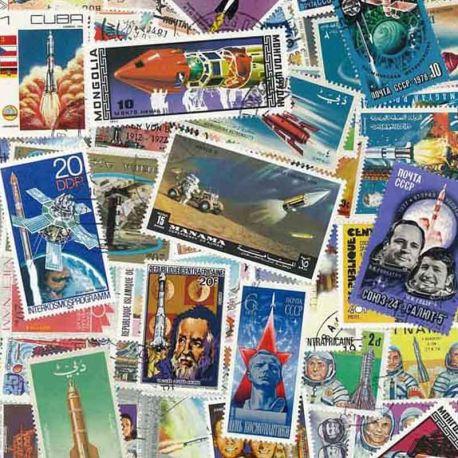 Raketen: 25 verschiedene Briefmarken