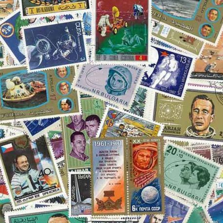 Collection de timbres Cosmonautes oblitérés