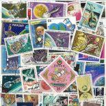 Sammlung gestempelter Briefmarken Planet Erde