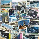 Collezione di francobolli navetta cancellati
