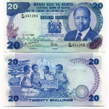 Billets de collection Billet de collection Kenya Pk N° 21 - 20 Shilling Billets du Kenya 19,00 €