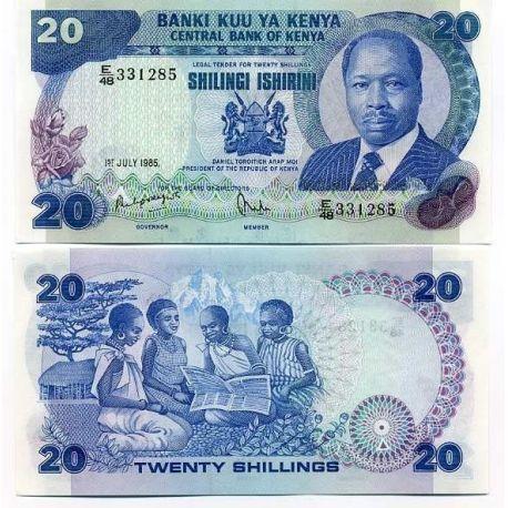 Kenya - Pk N° 21 - Billet de 20 Shilling