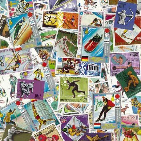 Olympische Spiele: 100 verschiedene Briefmarken