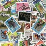 Collezione di francobolli ippica cancellati