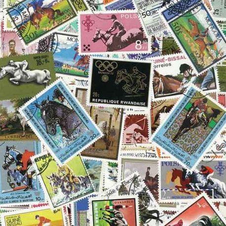 Collection de timbres Hippisme oblitérés