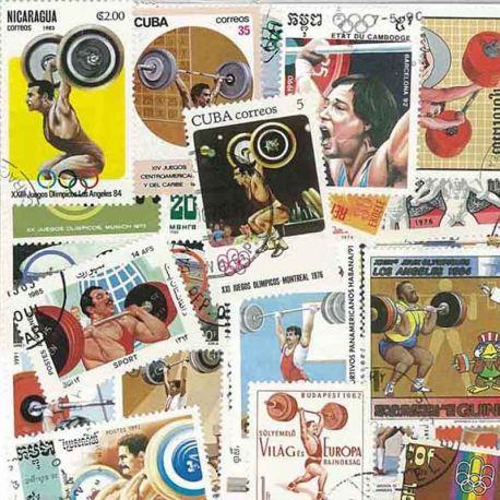 Gewichtheben: 25 verschiedene Briefmarken