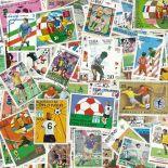 Collezione di francobolli calcio cancellati